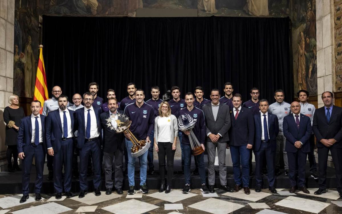 El Barça Lassa, rebut al Palau de la Generalitat pels èxits internacionals