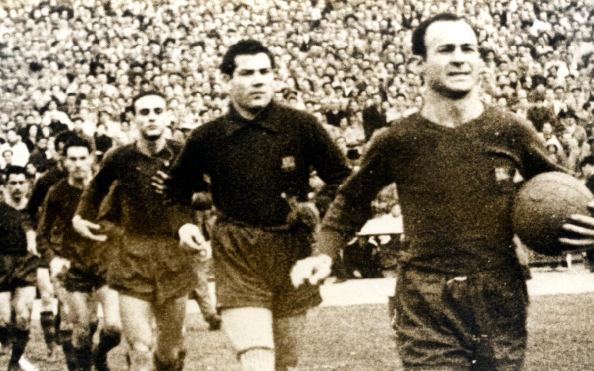 César Rodríguez, ídolo de la Cultural Leonesa y del Barça