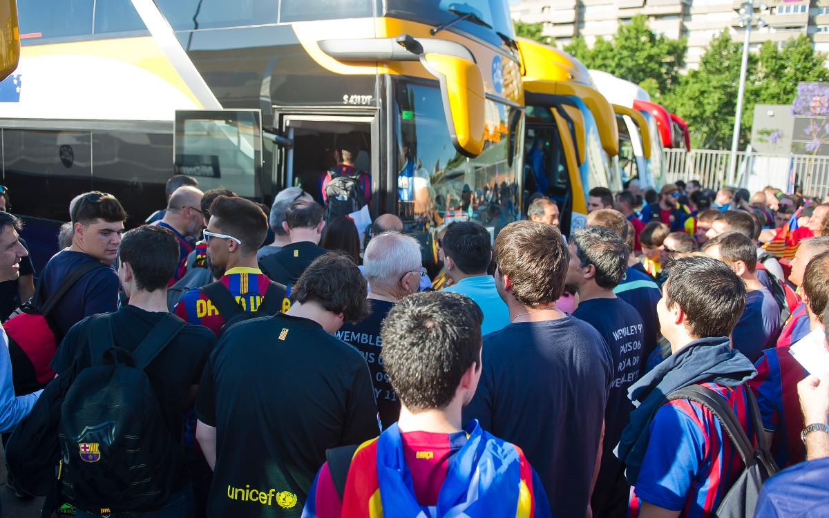 New method in place to apply for coach parking at the Camp Nou