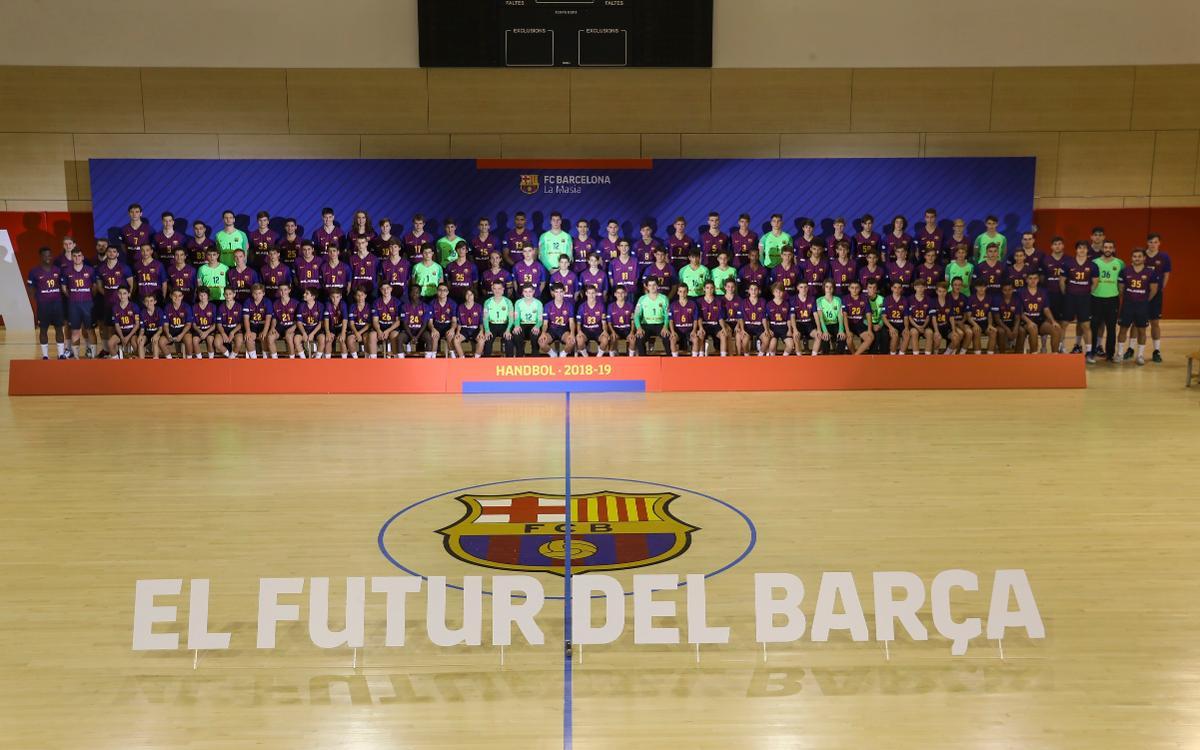 Presentats els equips de formació del Barça Lassa d'Handbol