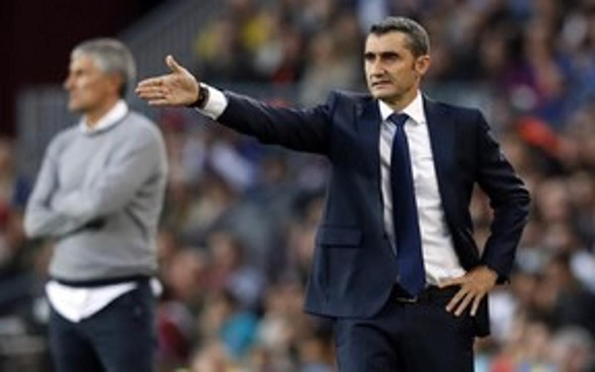 Ernesto Valverde: 'We didn't have a good first half'