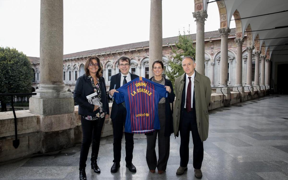 El Barça Innovation Hub es dona a conèixer a la Universitat de Milà en el marc del conveni amb l'Institut Ramon Llull