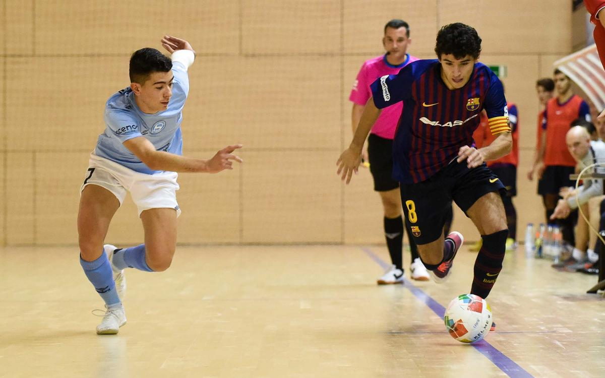 Barça Lassa B - Santiago Futsal (1-1): Empate que sabe a poco