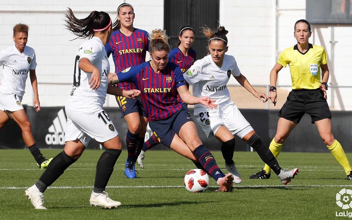 Valencia CF – Barça Femenino: El palo evita la victoria azulgrana (0-0)