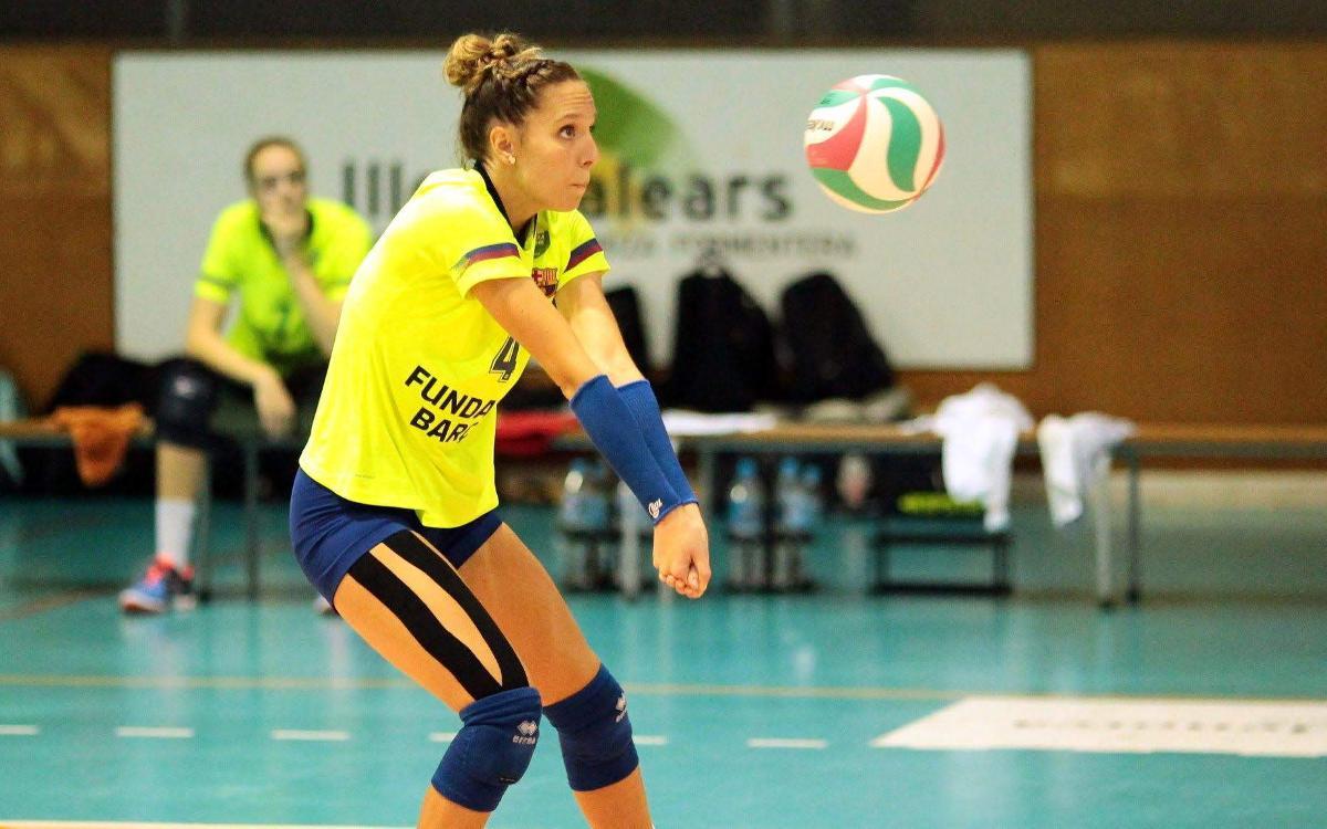 Els equips del Barça de Voleibol busquen fer un pas endavant