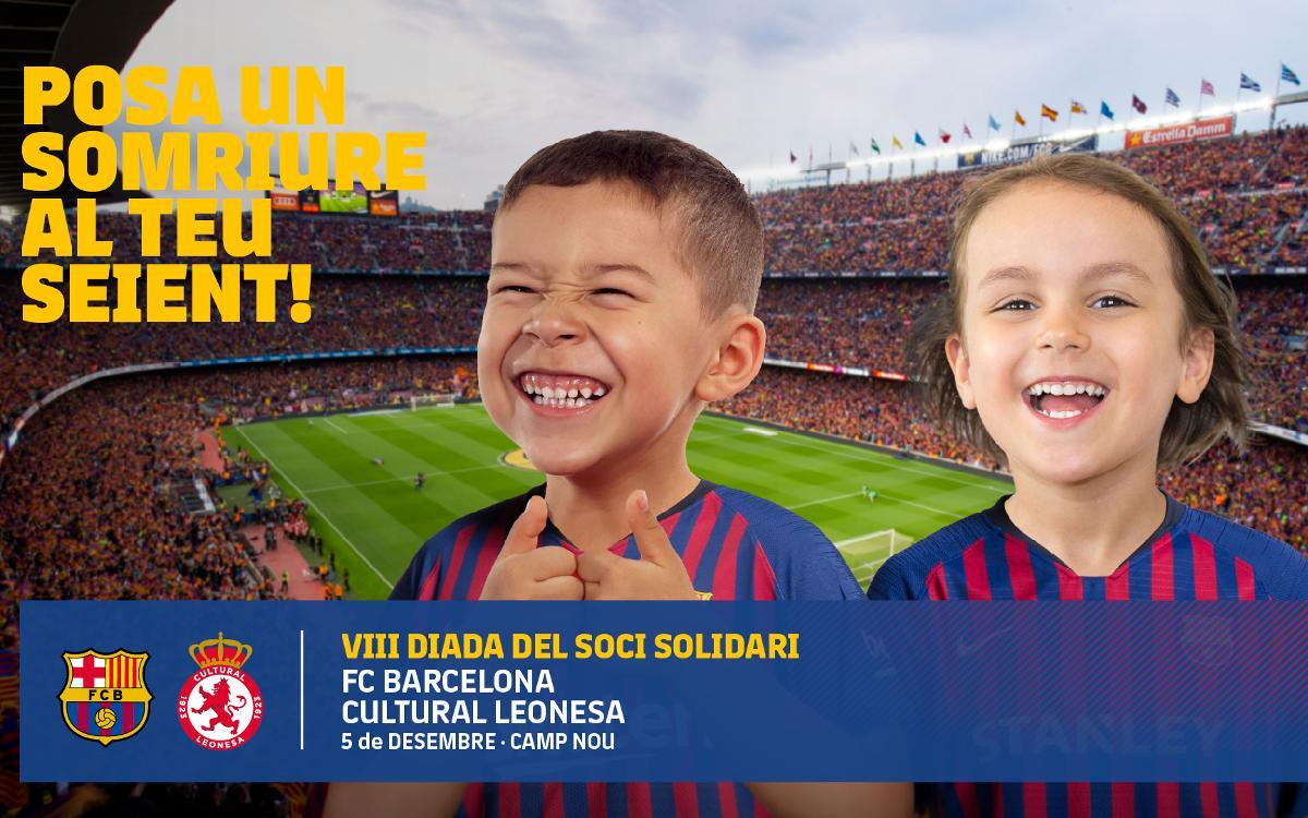 El Club allibera tot el Camp Nou per al partit solidari contra la Cultural Lleonesa a la Copa