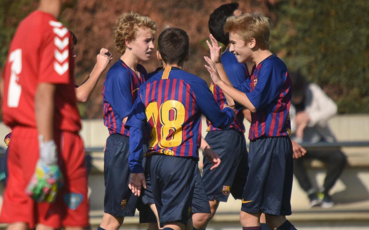 Golàs de l'Infantil B: pur ADN Barça en 35 segons