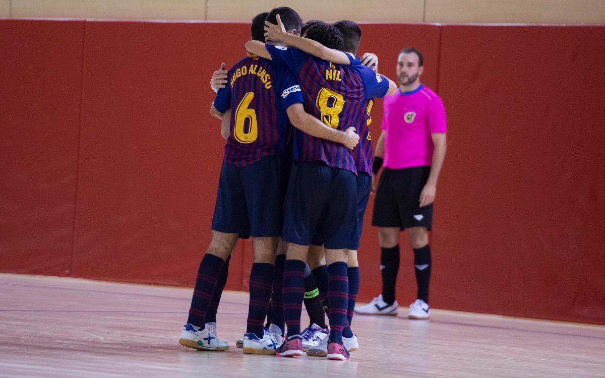 Barça Lassa B – Gran Canaria FS (3-1): Cinc partits consecutius invictes
