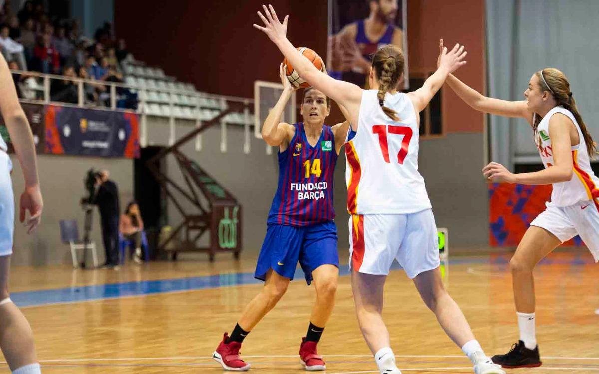 Anna Boleda la capitana del Barça de baloncesto Femenino