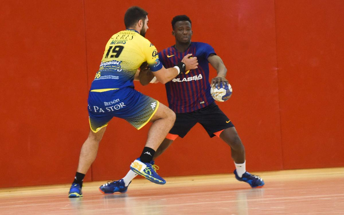 Barça Lassa B - Blasón y Bodegas Ceres Villa de Aranda (32-31): Espectacular triunfo del segundo equipo