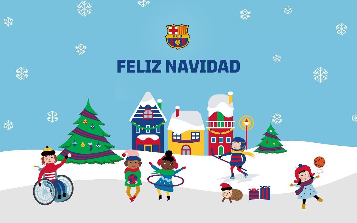Felicitaciones De Navidad Del Fc Barcelona.Xiv Muestra De Christmas Blaugrana Para Socios De 3 A 15 Anos