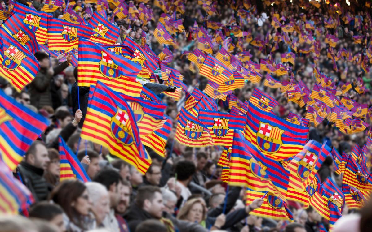 Afició al Camp Nou