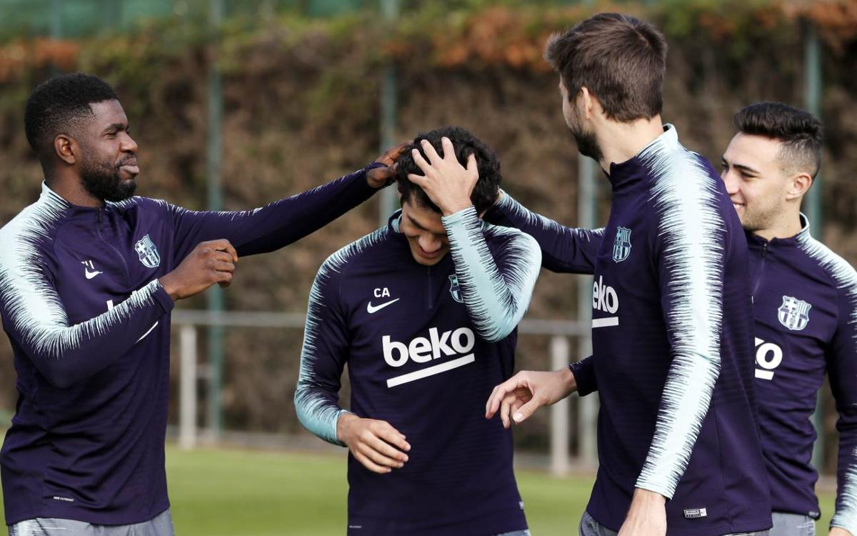 Tuesday training without internationals