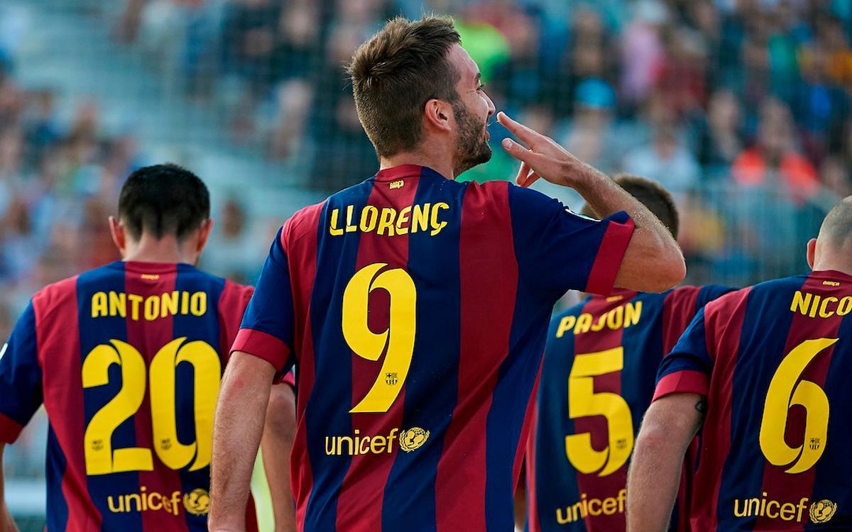 El blaugrana Llorenç Gómez, millor jugador del món de futbol platja
