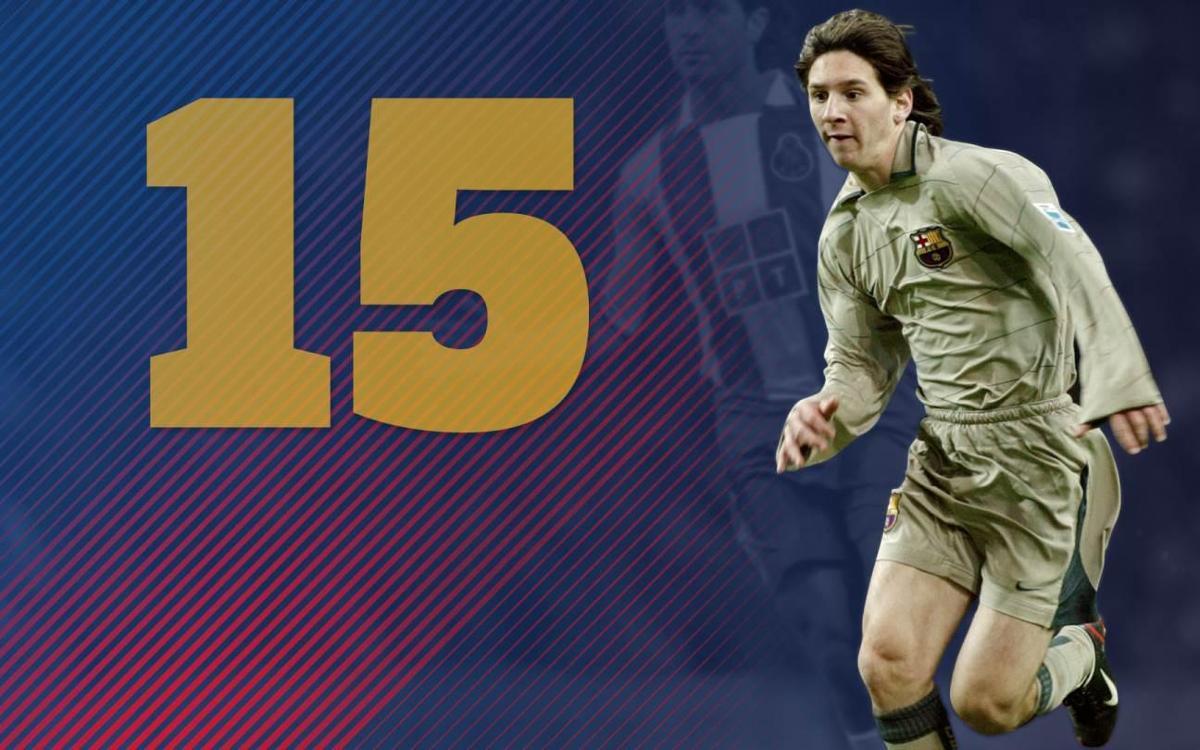 15 anys del debut de Leo Messi