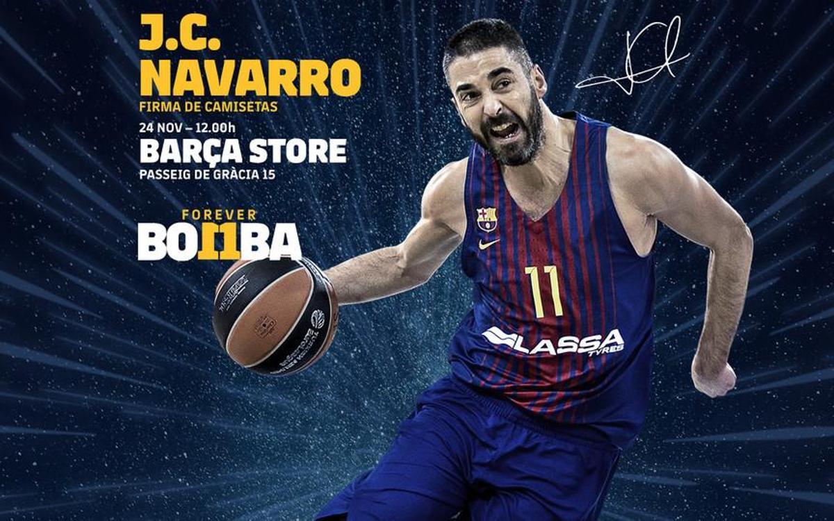 Juan Carlos Navarro, en la Barça Store de Paseo de Gracia