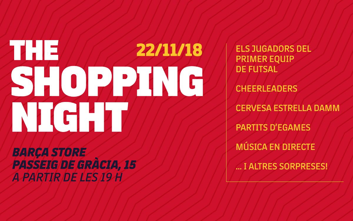 Arriba la Shopping Night a la Barça Store de Passeig de Gràcia