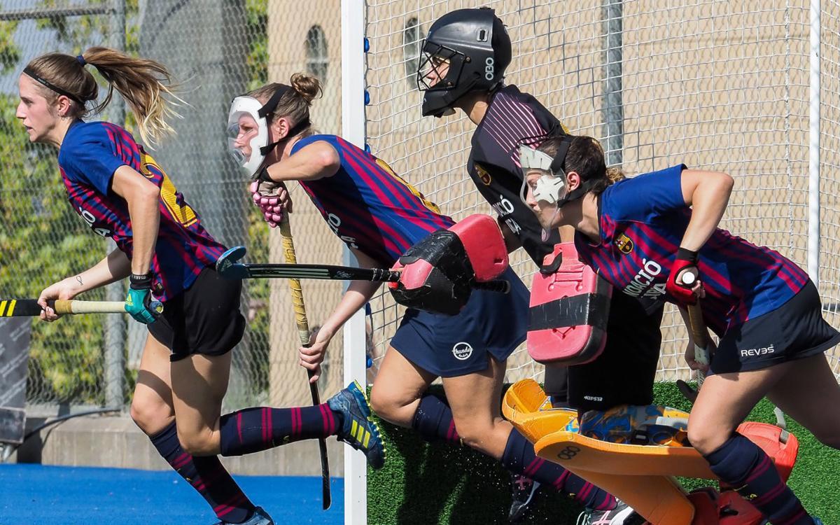 El Barça femenino de hockey hierba domina pero acaba empatando