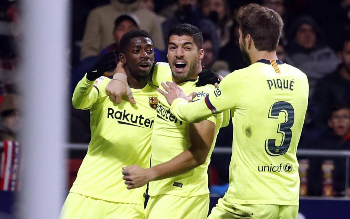 Atlético de Madrid - FC Barcelona: Dembélé rasca el empate en el Wanda (1-1)