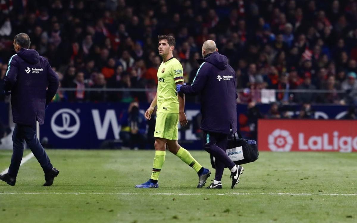 Sergi Roberto hamstring injury: out 3-4 weeks