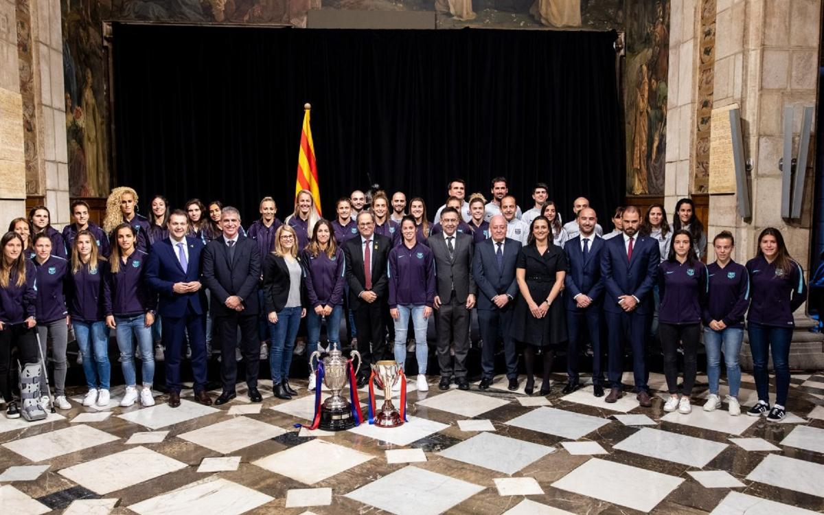El president Torra rep el Barça Femení