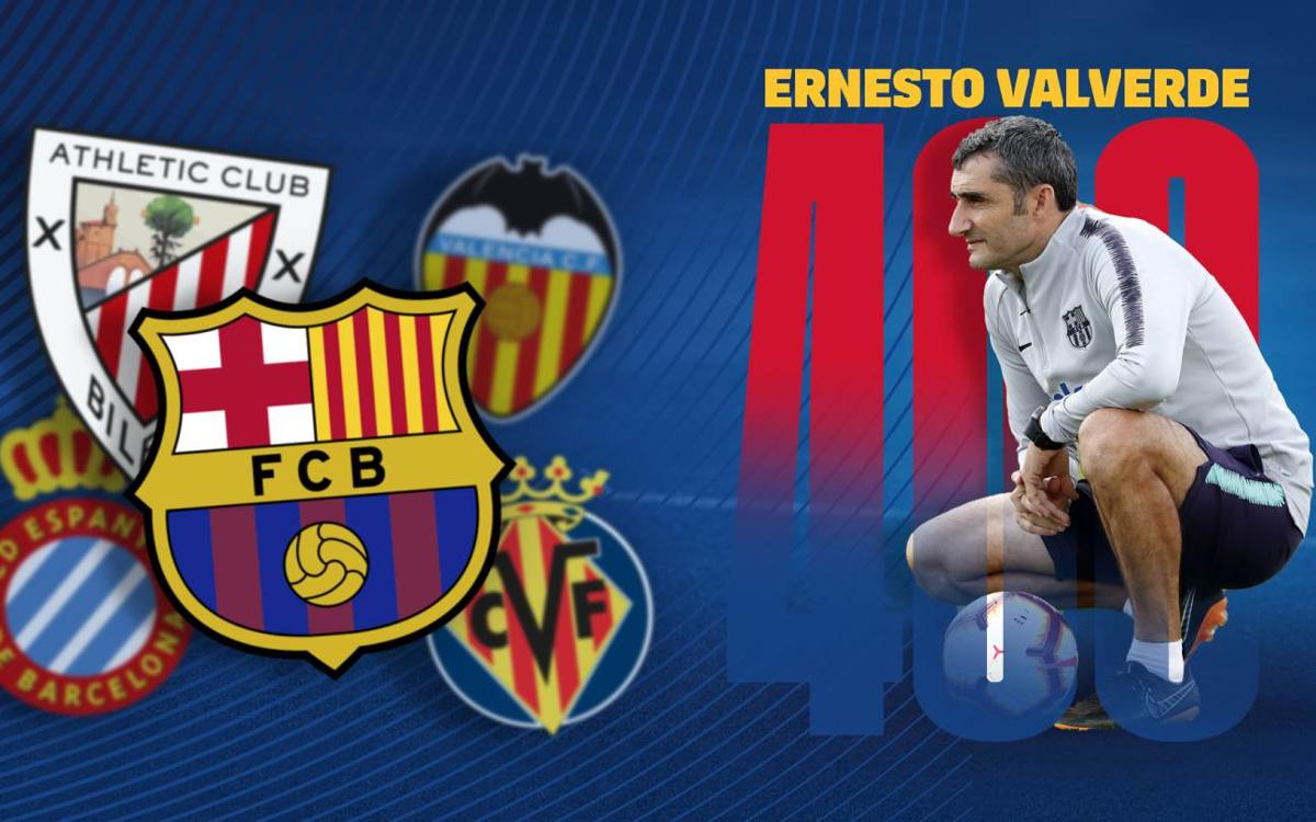 Ernesto Valverde,  400 games as a coach in the League