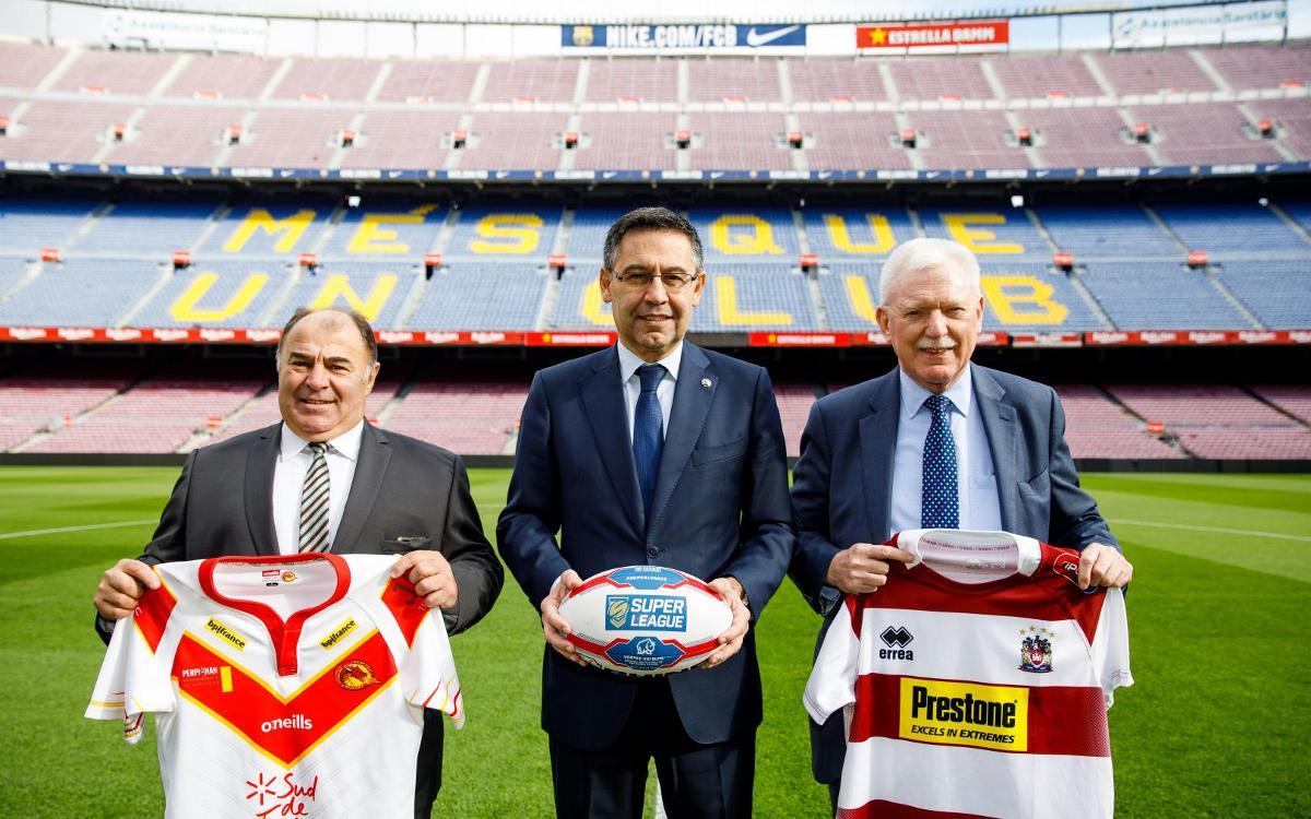 El Camp Nou acollirà un partit de la Super League de rugbi a 13 entre els Dragons Catalans i el Wigan el 18 de maig de 2019