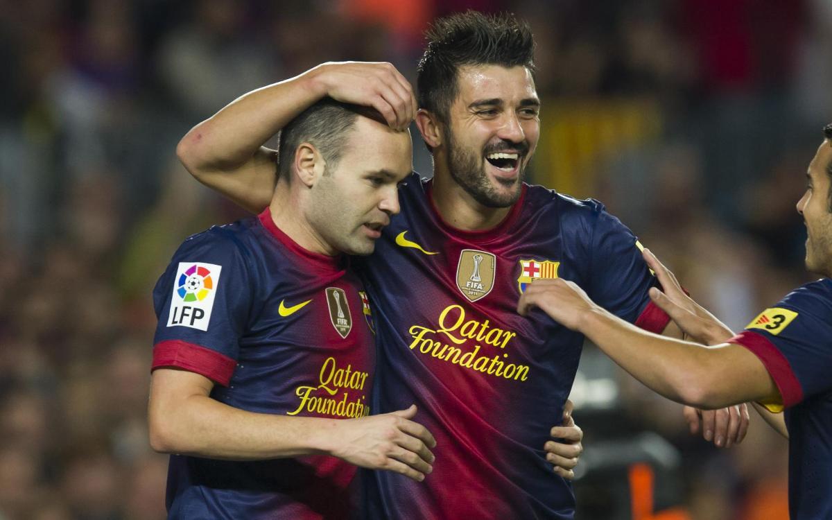 Villa jugará en el Vissel Kobe con Iniesta