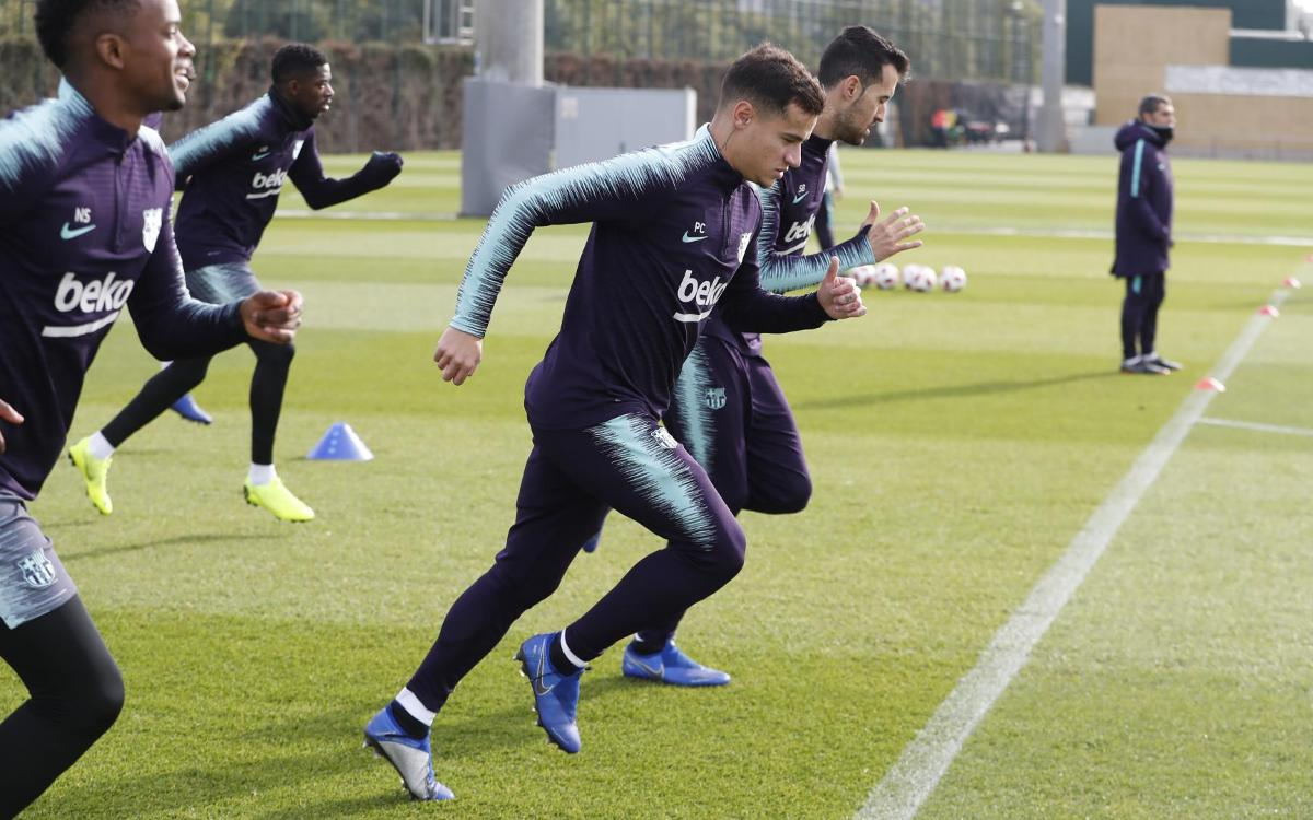 Training after win, with focus on Copa del Rey