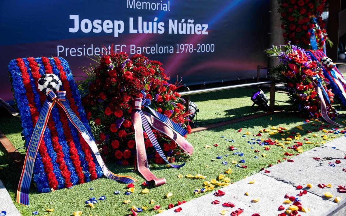 Espacio Memorial en el Camp Nou en recuerdo de Núñez