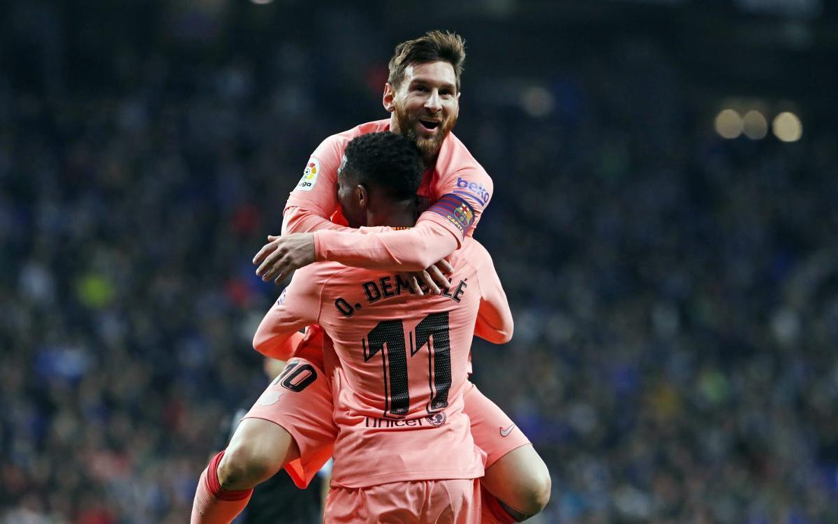 Messi tenyeix el derbi de rosa (0-4)