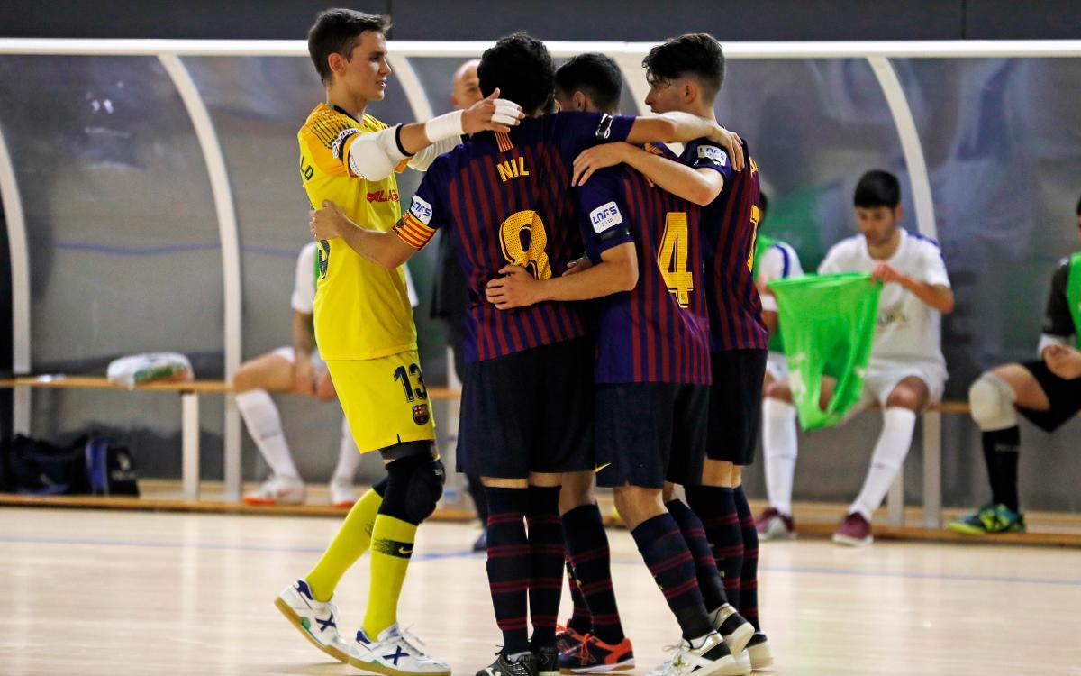 Barça Lassa B - Dimurol S. Tenerife: Triunfo solvente (5-0)