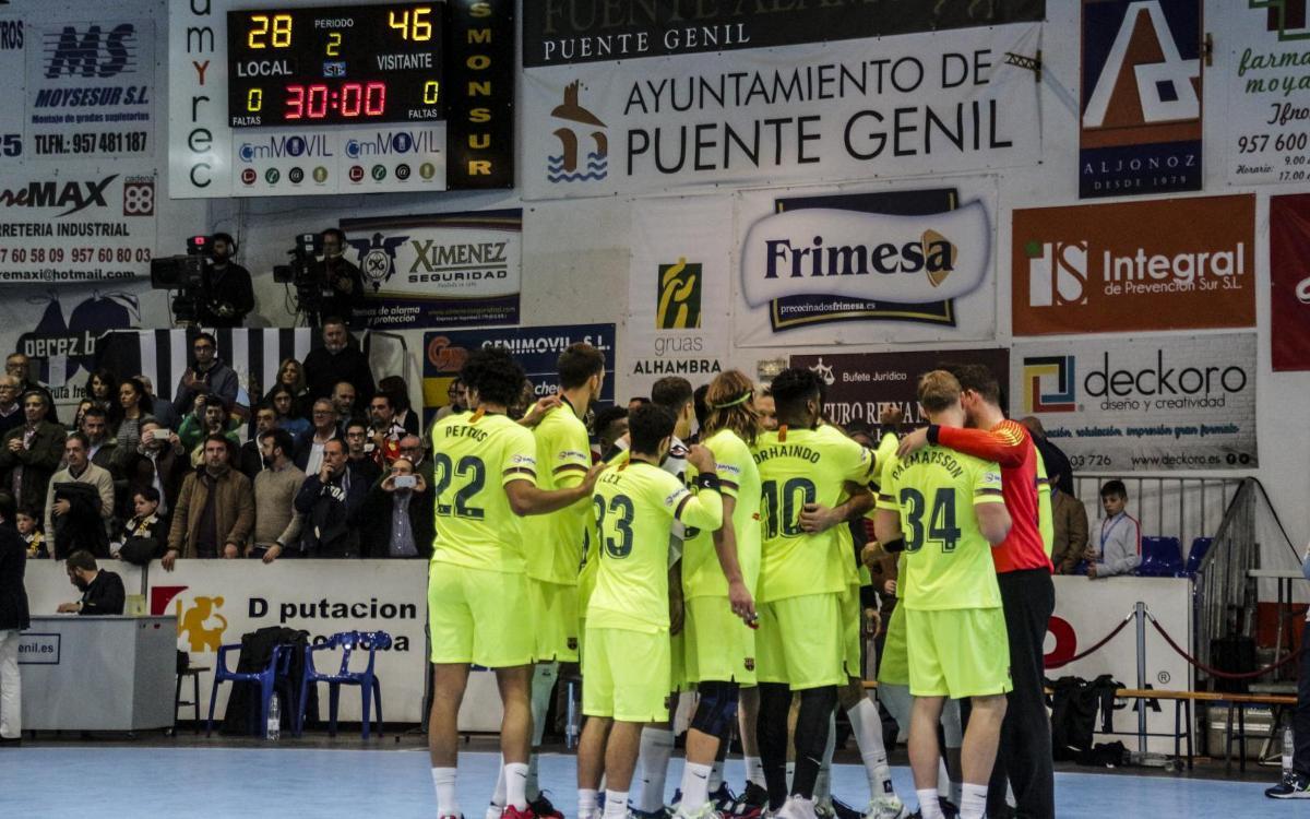 Puente Genil – Barça Lassa: A festival of goals to remain undefeated (28-46)