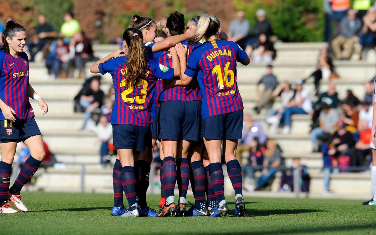 FC Barcelona - Madrid CFF: Lluvia de goles azulgrana (7-0)