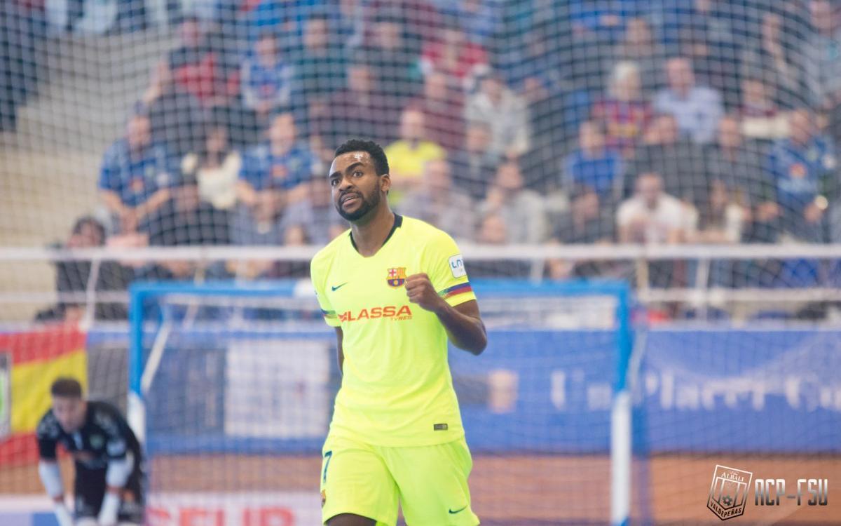 Viña Albali Valdepeñas - Barça Lassa: Exhibición para volver al liderato (2-9)