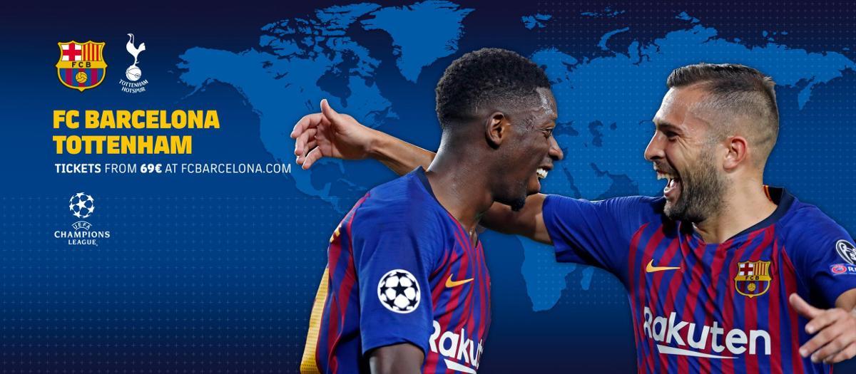 Quan i on veure el FC Barcelona - Tottenham Hotspur