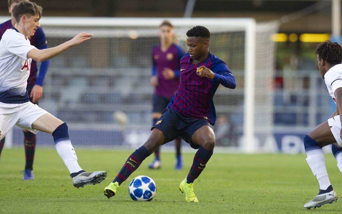 UEFA Youth League: FC Barcelona 0-2 Tottenham