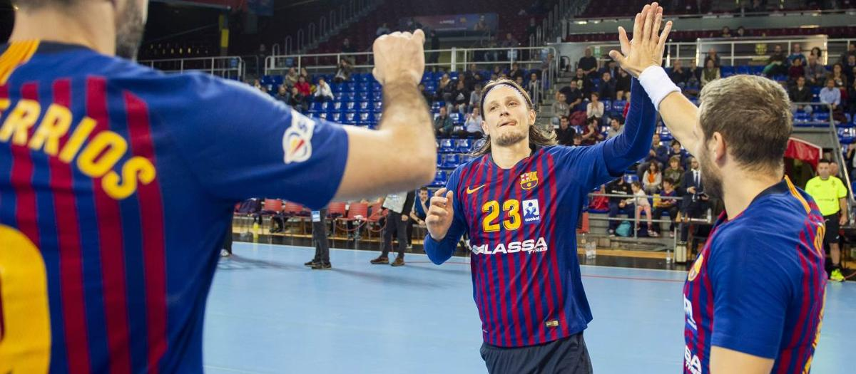 Barça Lassa – Bada Huesca: El Palau acomiada l'handbol del 2018