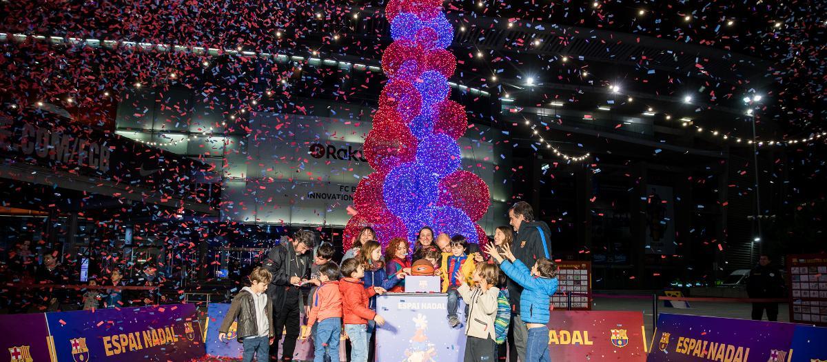 Festa inaugural de les Activitats de Nadal abans del Barça-Celta