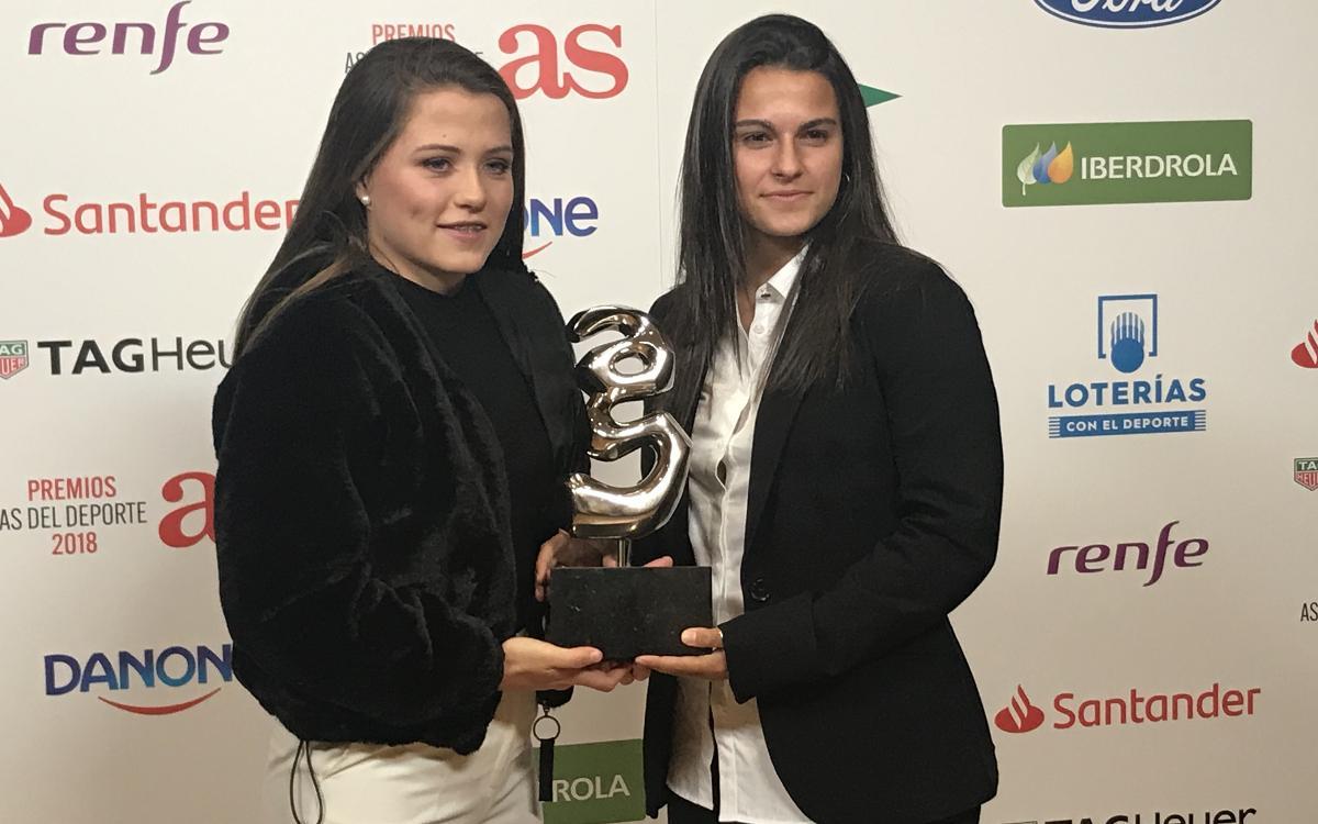 Claudia Pina rep un reconeixement a la Gala dels Premis As