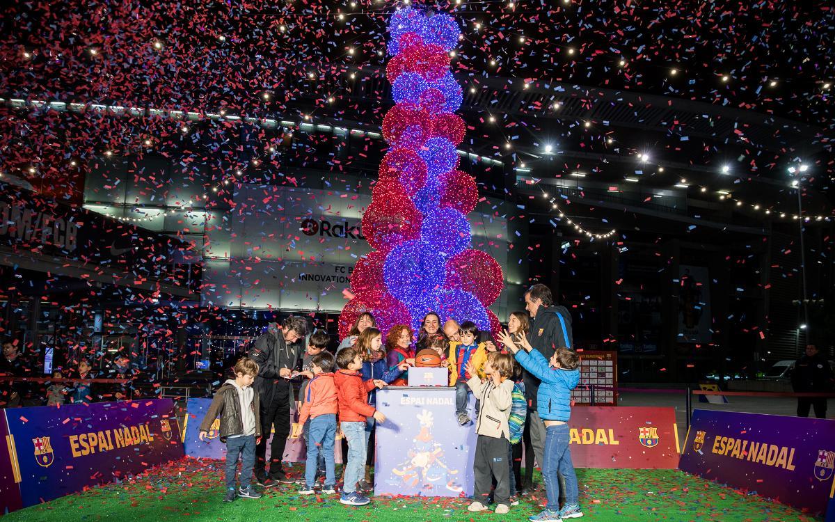 Fiesta inaugural de las Actividades de Navidad antes del Barça-Celta