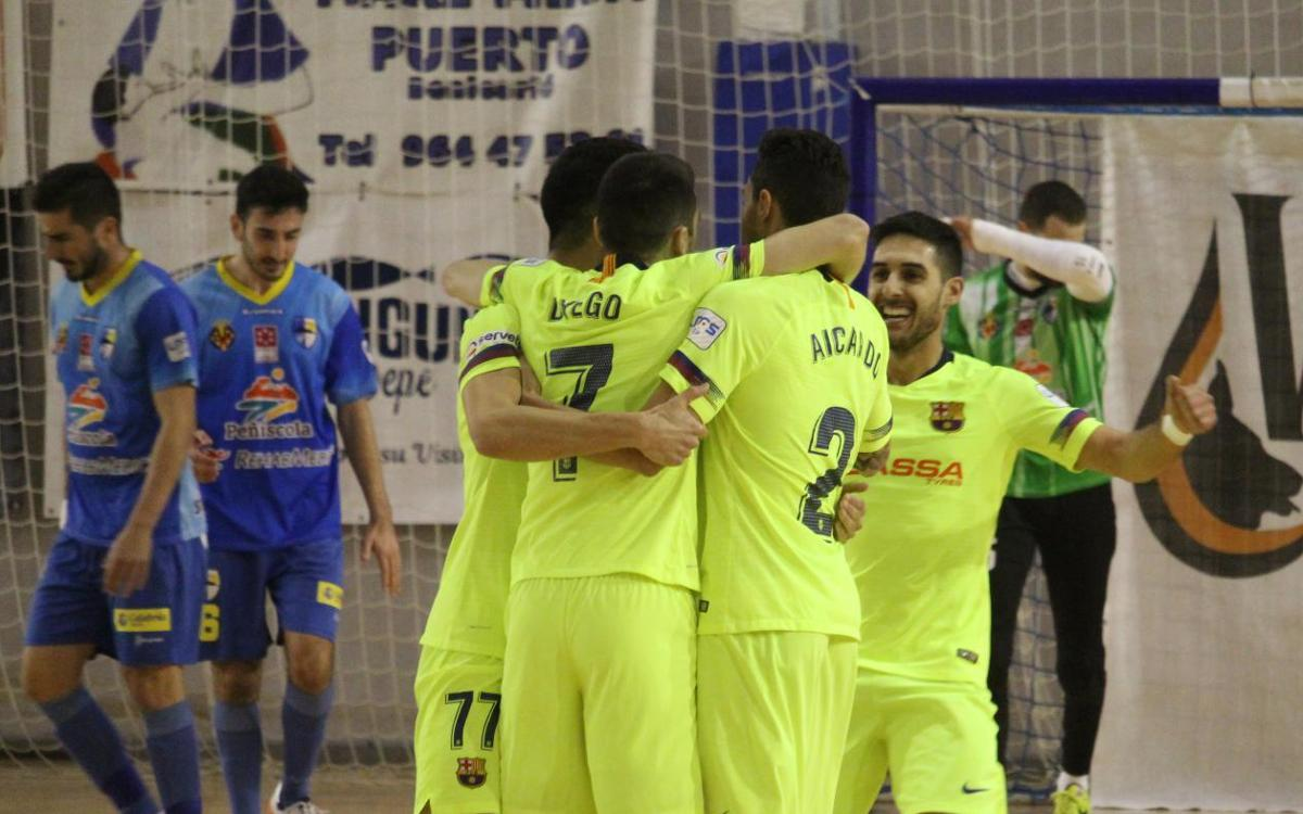 Peñíscola 1-5 Barça Lassa: Exhibition to qualify for the quarterfinals