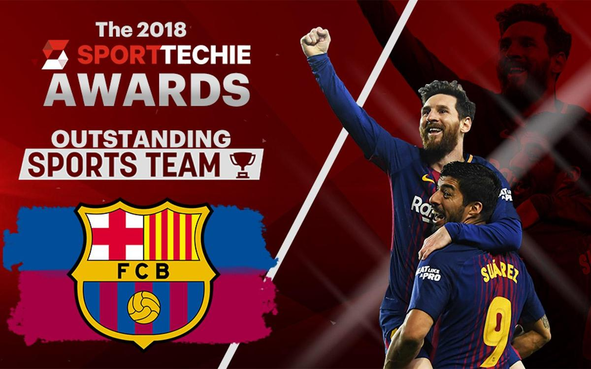 Barça Wins the 2018 SportTechie Award for Outstanding Sports Team
