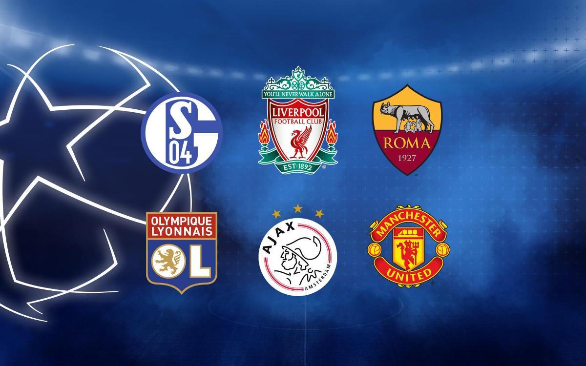 Los seis posibles rivales en los octavos de la Champions
