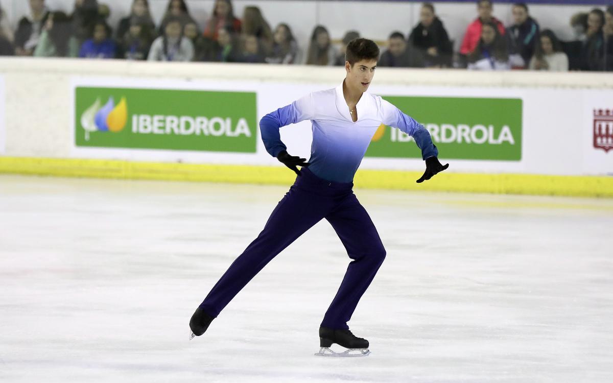 Aleix Gabara en el campeonato de España de patinaje artístico sobre hielo