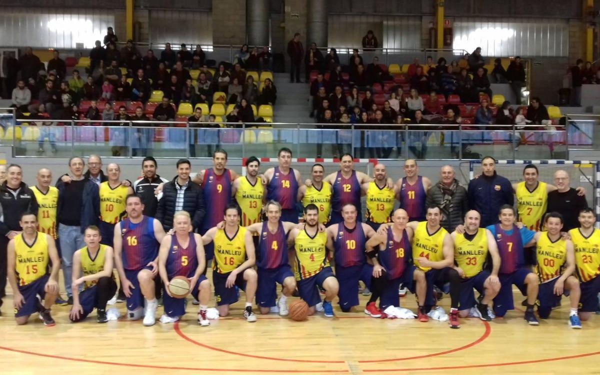 Los Veterans FCB, con La Marató