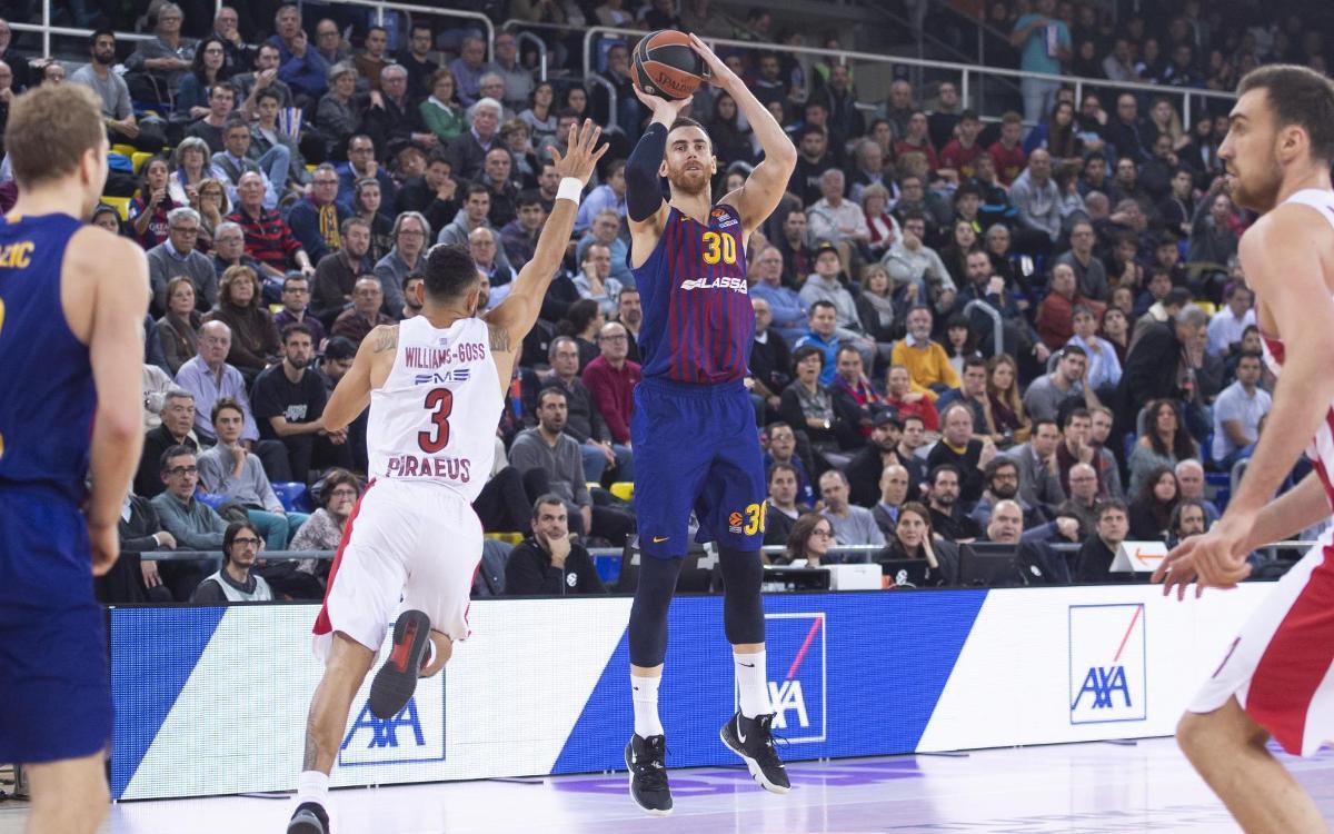 Barça Lassa – Olympiacos: S'escapa la victòria en el tercer quart (60-69)