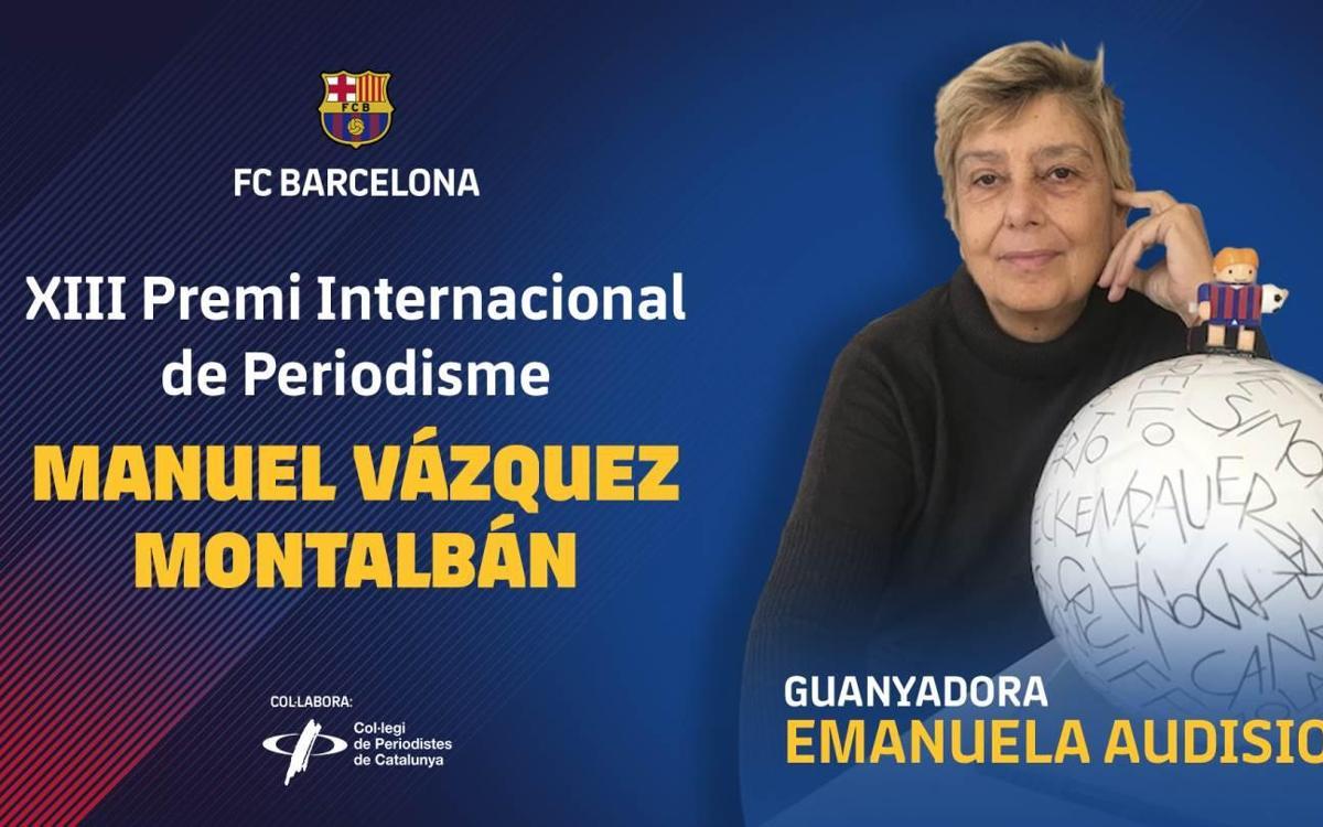 Emanuela Audisio, guanyadora del premi Vázquez Montalbán