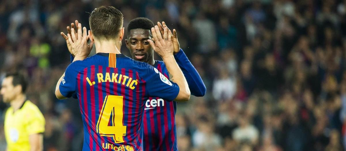 Rakitic and Dembélé nominated for Goal of the Group Stage