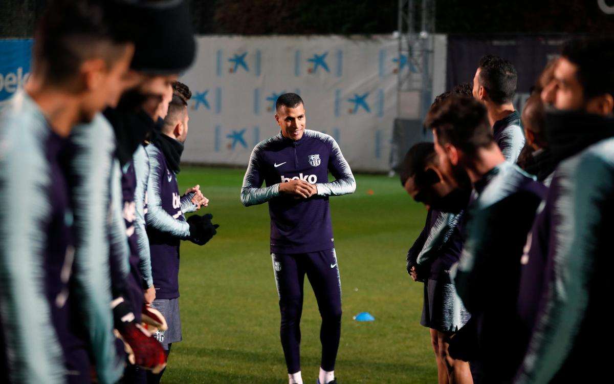 Murillo's first training session